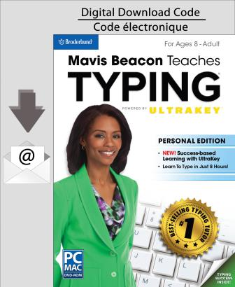 PC Mavis Beacon Teaches Typing Powered by UltraKey - Personal Edition [Download]