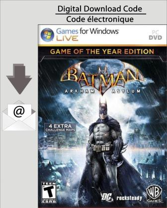 PC Batman:  Arkham Asylum Game of The Year Edition [Download]