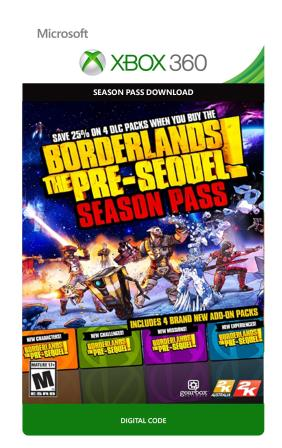 Xbox 360 Borderlands: The Pre-Sequel - Season Pass [Download]