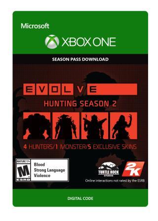 Xbox One Evolve Hunting Season 2 Season Pass [Download]
