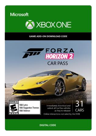 Xbox One Forza Horizon 2: Car Pass [Download]