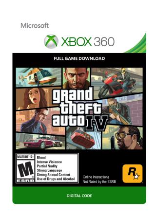 Xbox 360 Grand Theft Auto IV [Download]