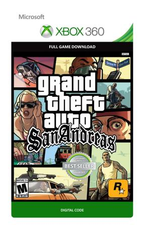 Xbox 360 Grand Theft Auto San Andreas  [Download]