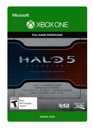 Xbox One Halo 5 Guardians Digital Deluxe Edition  [Download]