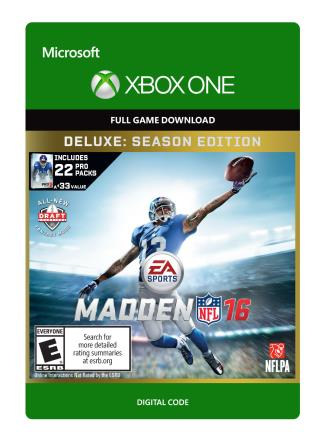 Xbox One Madden NFL 16 Deluxe Edition  [Download]