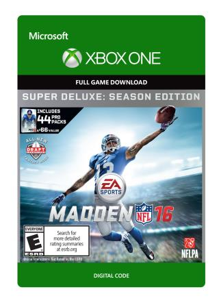 Xbox One Madden NFL 16 Super Deluxe Edition [Download]