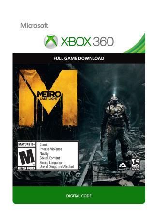 Xbox 360 Metro Last Light [Download]