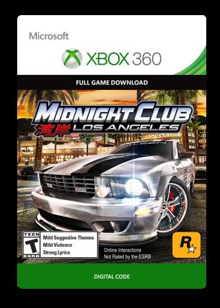 Xbox 360 Midnight Club: LA  [Download]