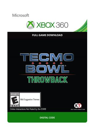 Xbox 360 Tecmo Bowl Throwback [Download]