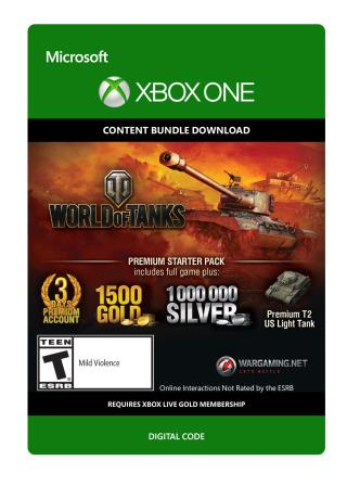 Xbox One World of Tanks Premium Starter Pack [Download]
