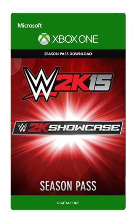 Xbox One WWE 2K15 Showcase Season Pass  [Download]