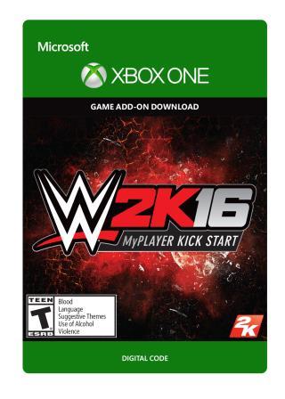 Xbox One WWE 2K16 MyPlayer Kickstart Add-on [Download]