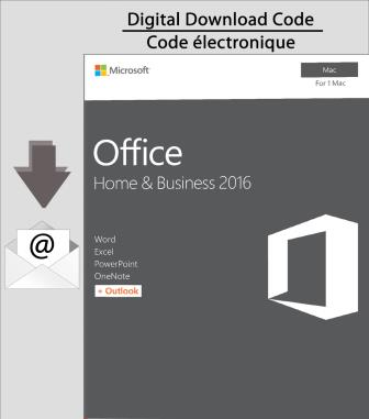 Microsoft Office Home & Business 2016 for Mac [Download]