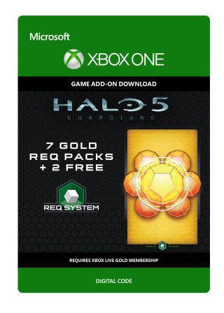 Xbox One Halo 5: Guardians: 7 Gold REQ Packs + 2 Free [Download]