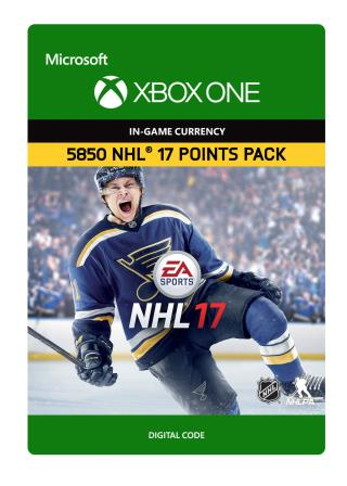 Xbox One NHL 17 Ultimate Team NHL Points 5850 [Download]