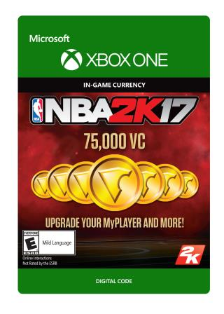 Xbox One NBA 2K17: 75,000 VC [Download]
