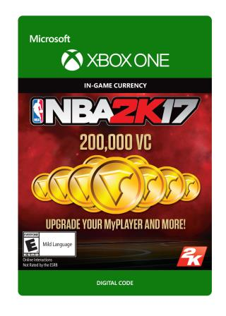 Xbox One NBA 2K17: 200,000 VC [Download]