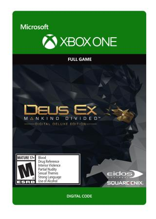 Xbox One Deus Ex Mankind Divided: Digital Deluxe Edition [Download]