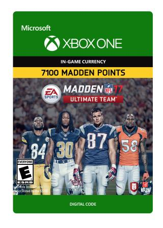 Xbox One Madden NFL 17: MUT 7100 Madden Points Pack [Download]